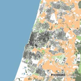 Lageplan von Tel Aviv in Israel