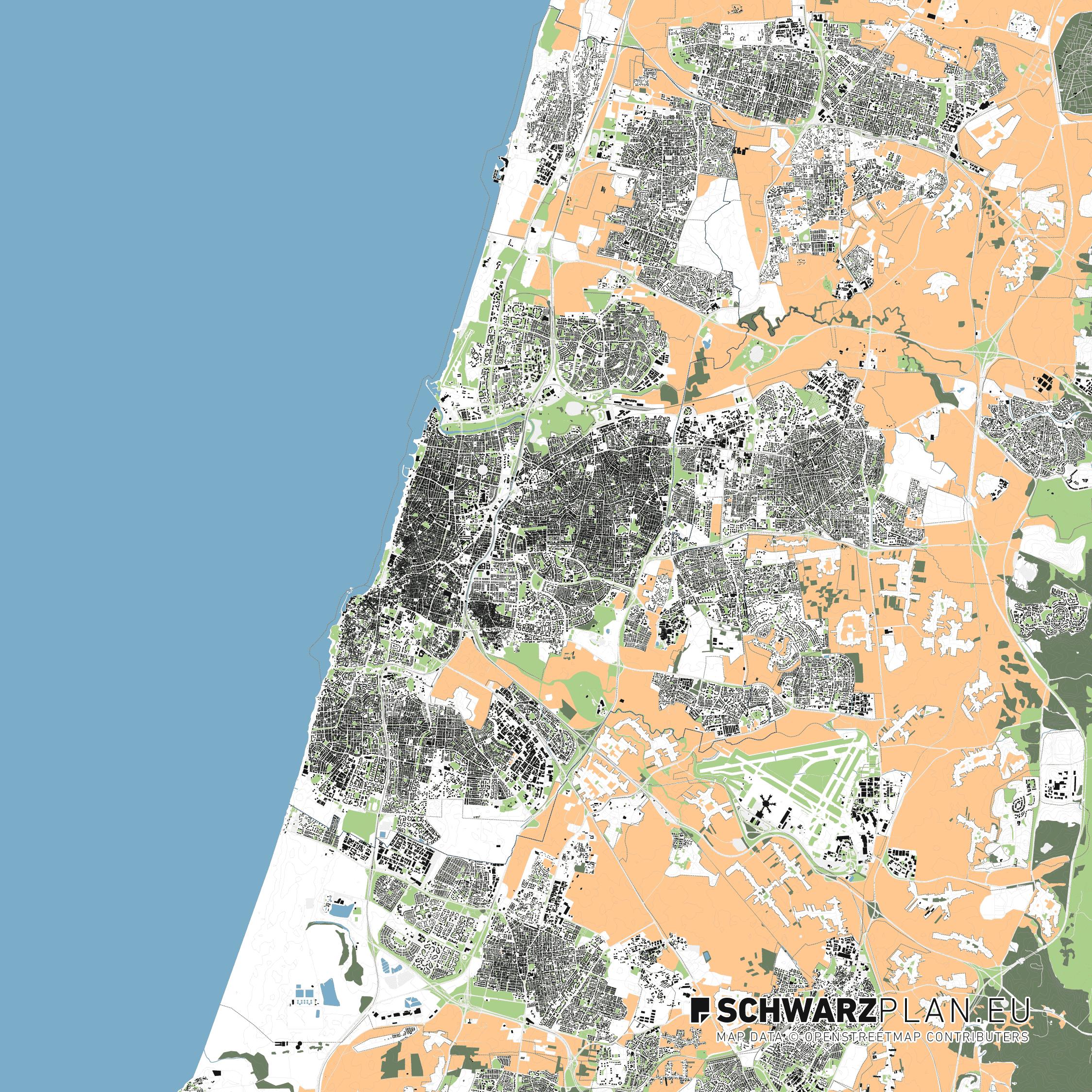 Lageplan von Tel Aviv