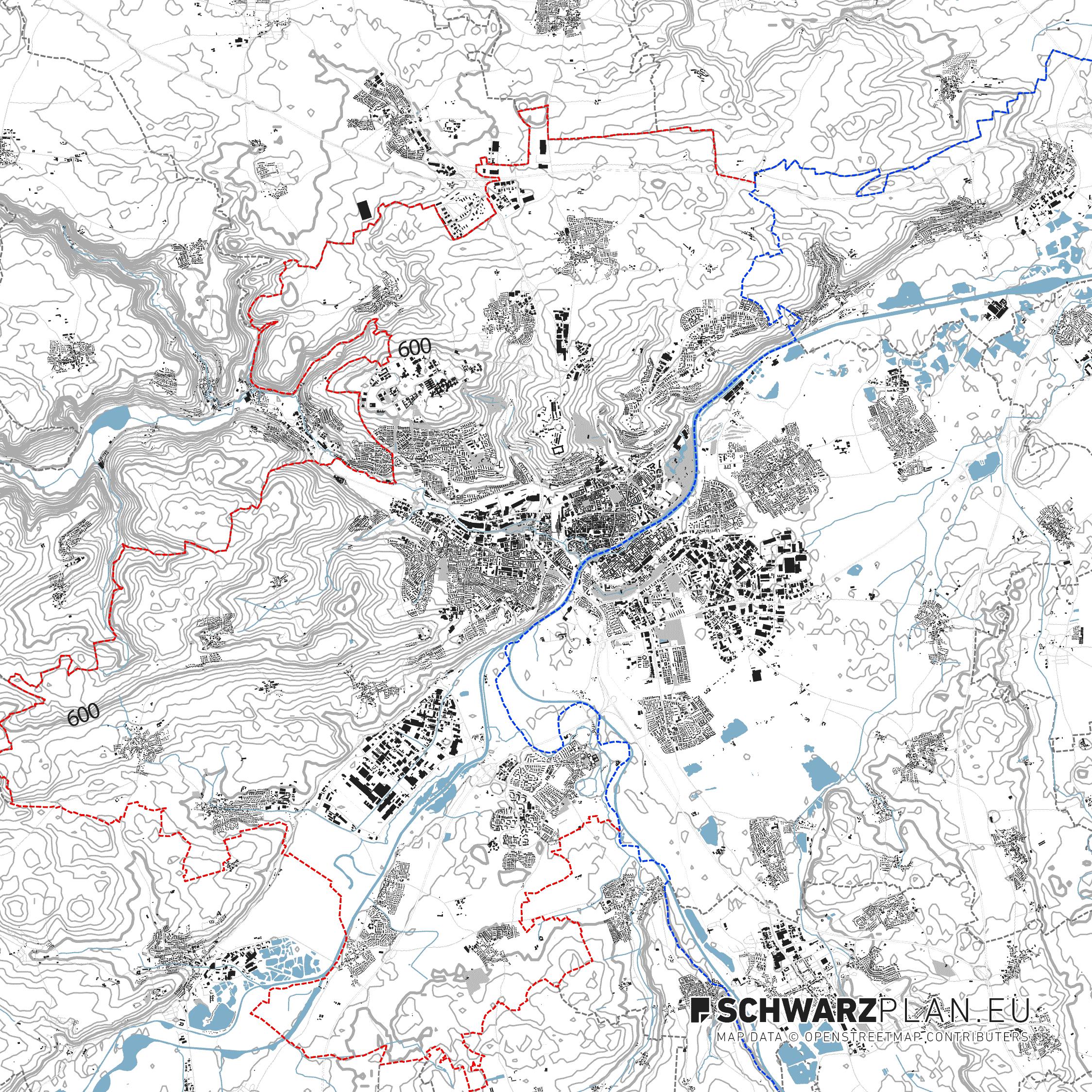 Lageplan von Ulm