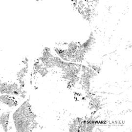 Schwarzplan von Bregenz in Österreich