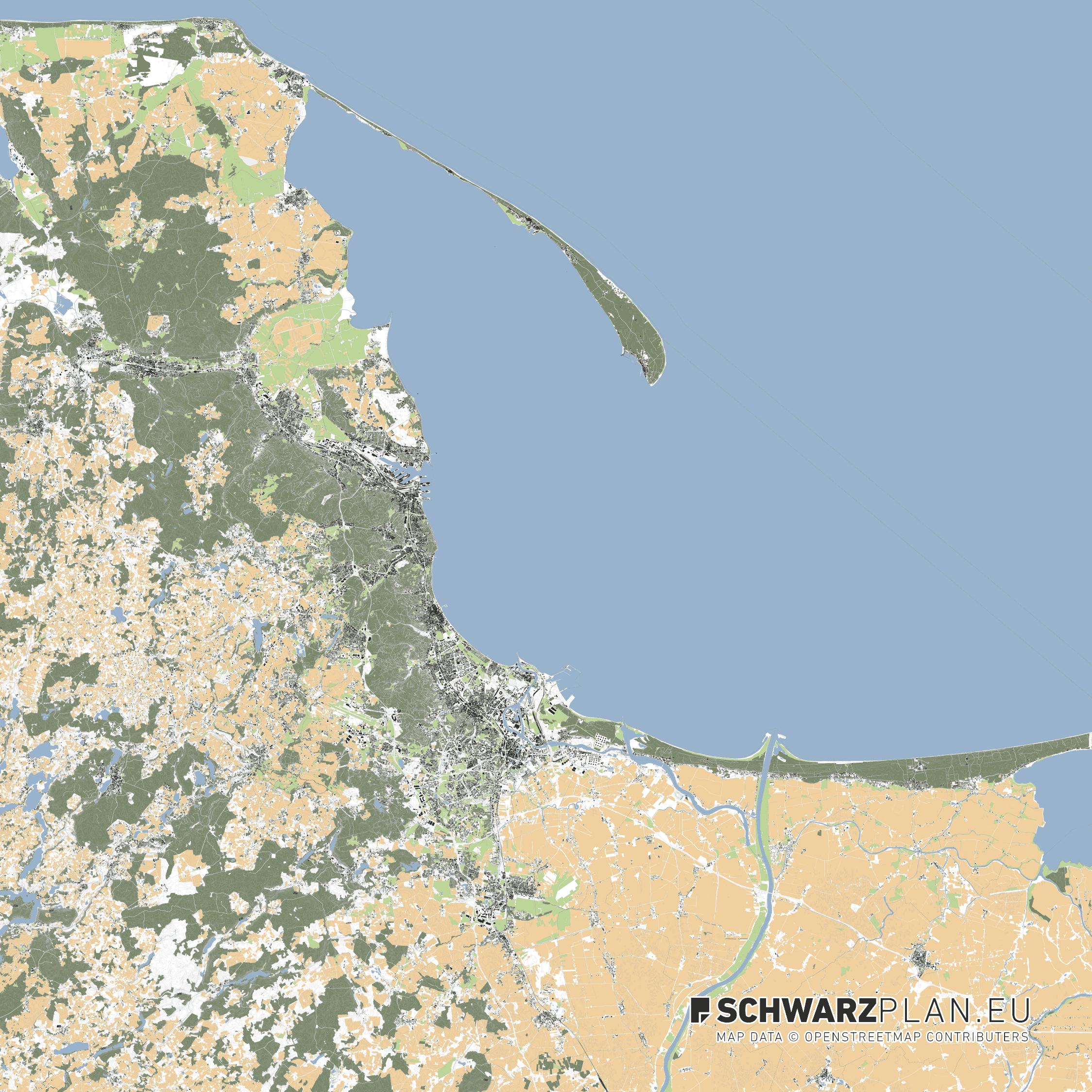 Lageplan von Danzig