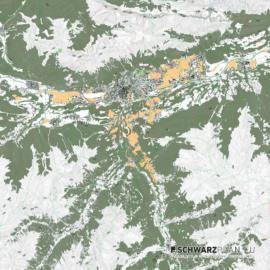 Lageplan von Innsbruck in Österreich