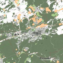 Lageplan von Kaiserslautern