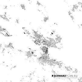 Schwarzplan von Konstanz