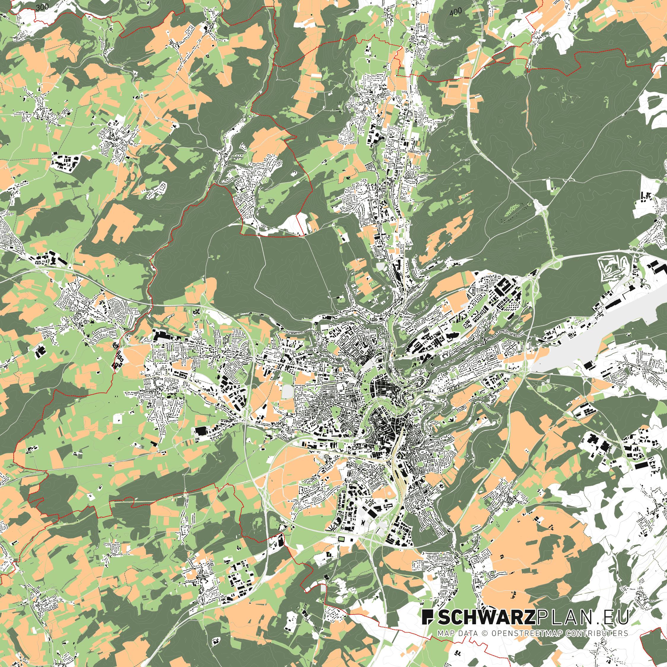 Lageplan von Luxemburg