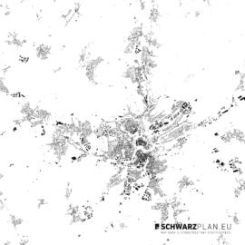 Schwarzplan von Luxemburg