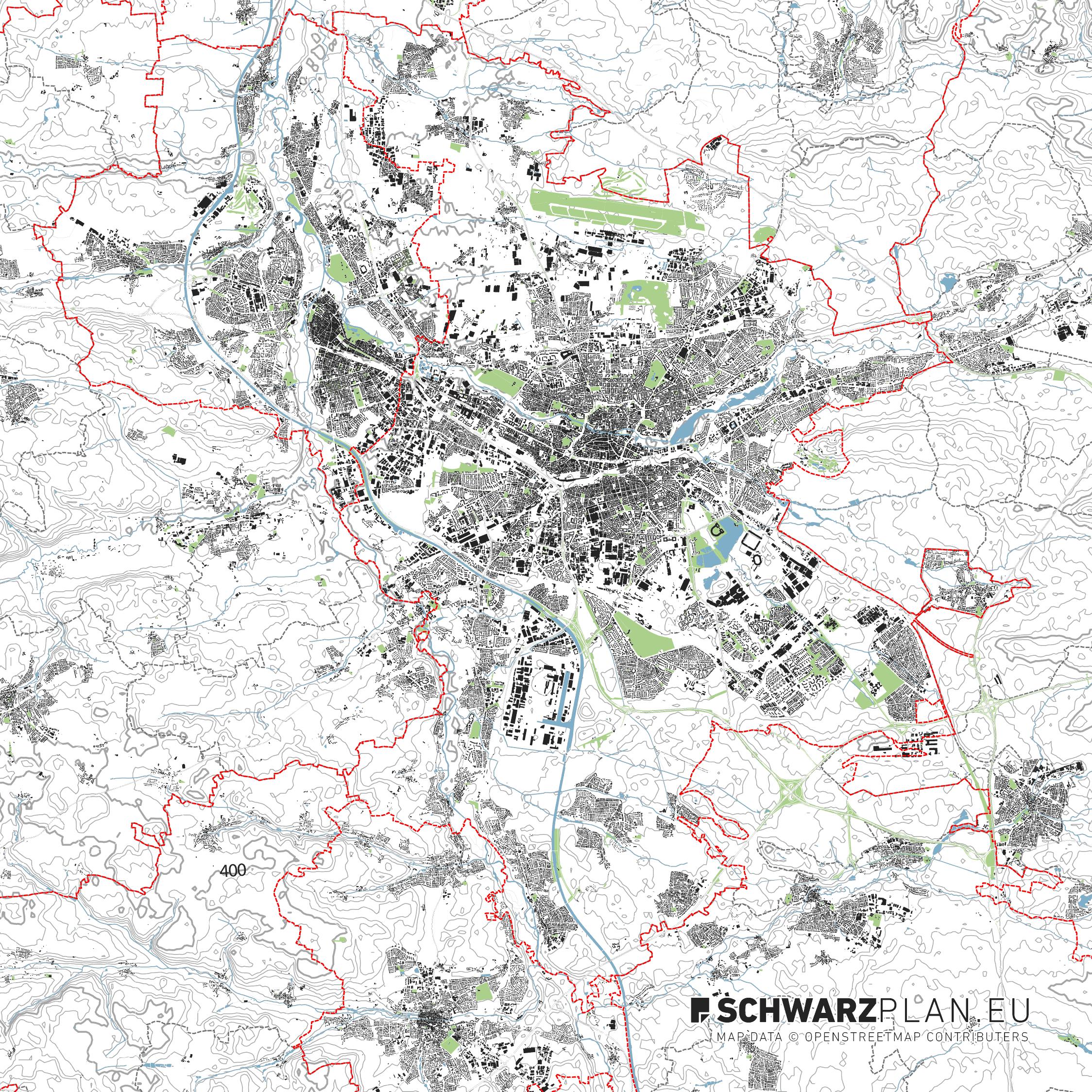 Lageplan von Nürnberg