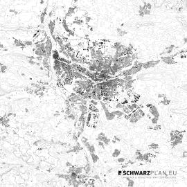 Schwarzplan von Nürnberg