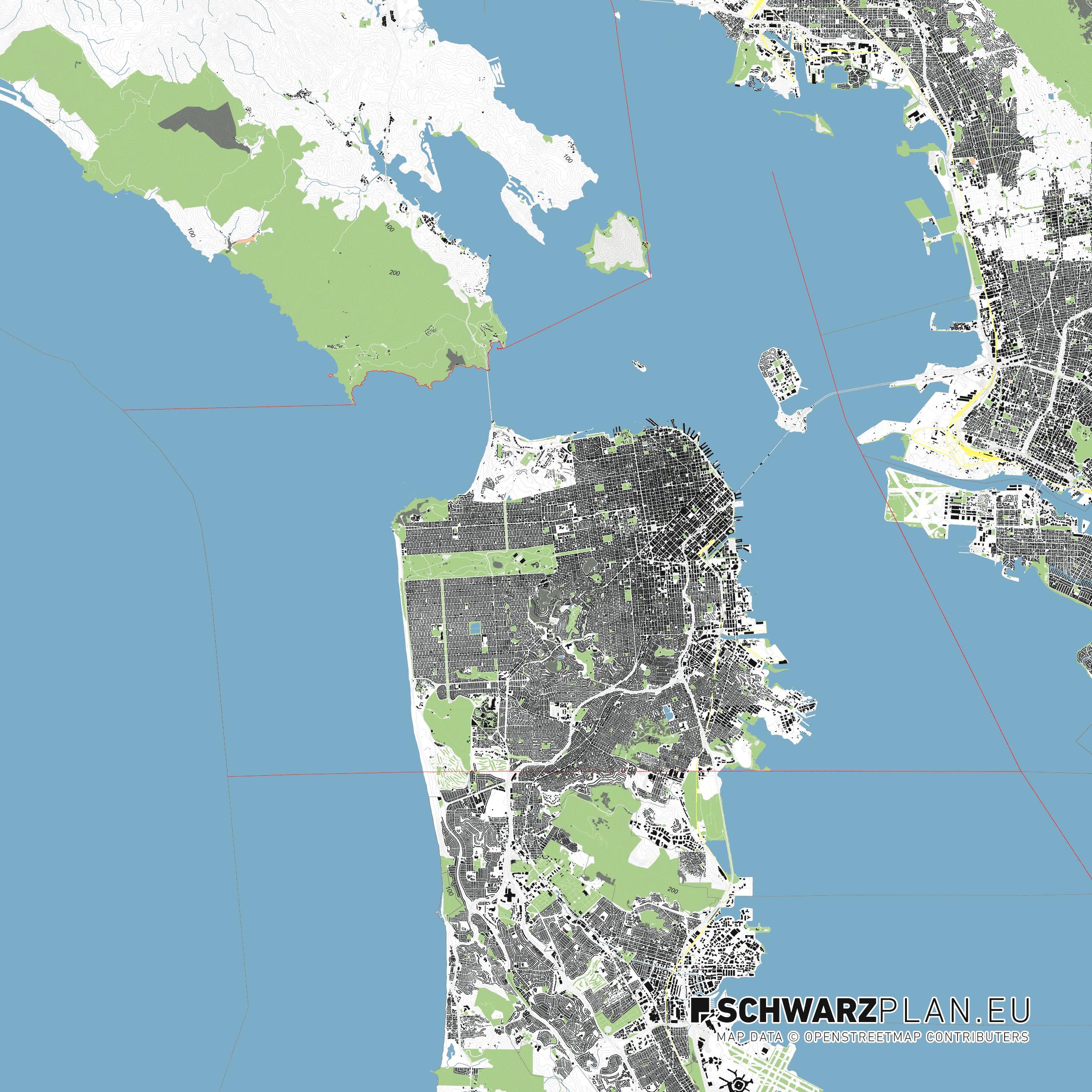 Lageplan von San Francisco