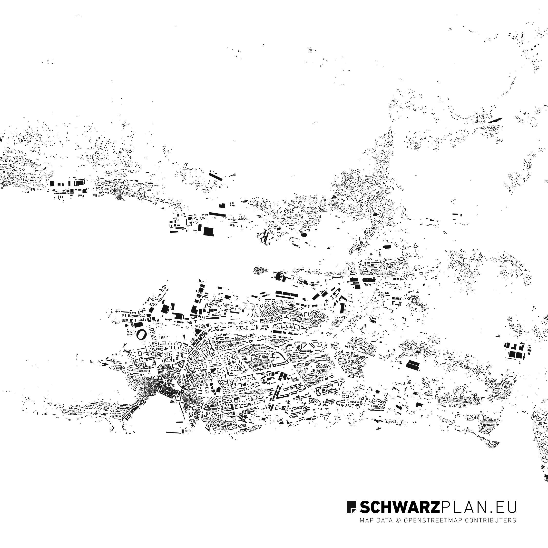 Schwarzplan von Split