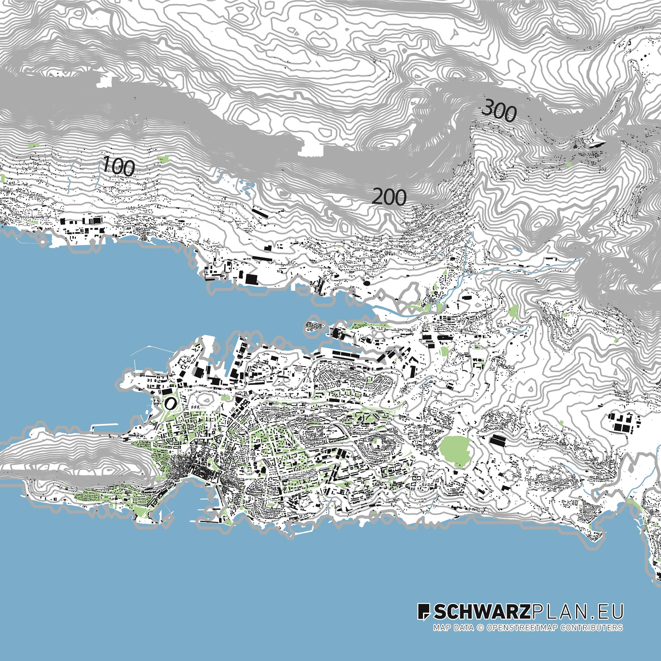Lageplan von Split