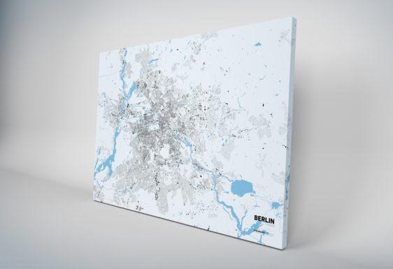 Leinwanddruck - Schwarzplan von Berlin