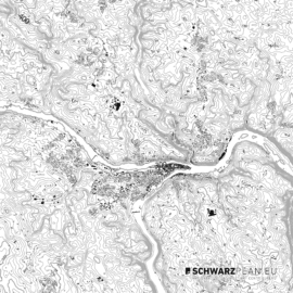 Schwarzplan von Passau
