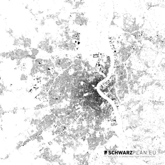Schwarzplan von Bordeaux