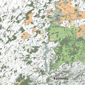 Lageplan vom Kanton Freiburg