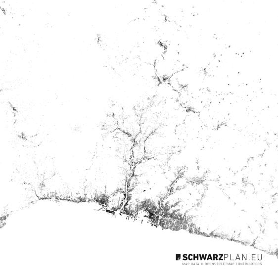 Schwarzplan von Genua