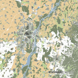 Lageplan von Straßburg und Offenburg