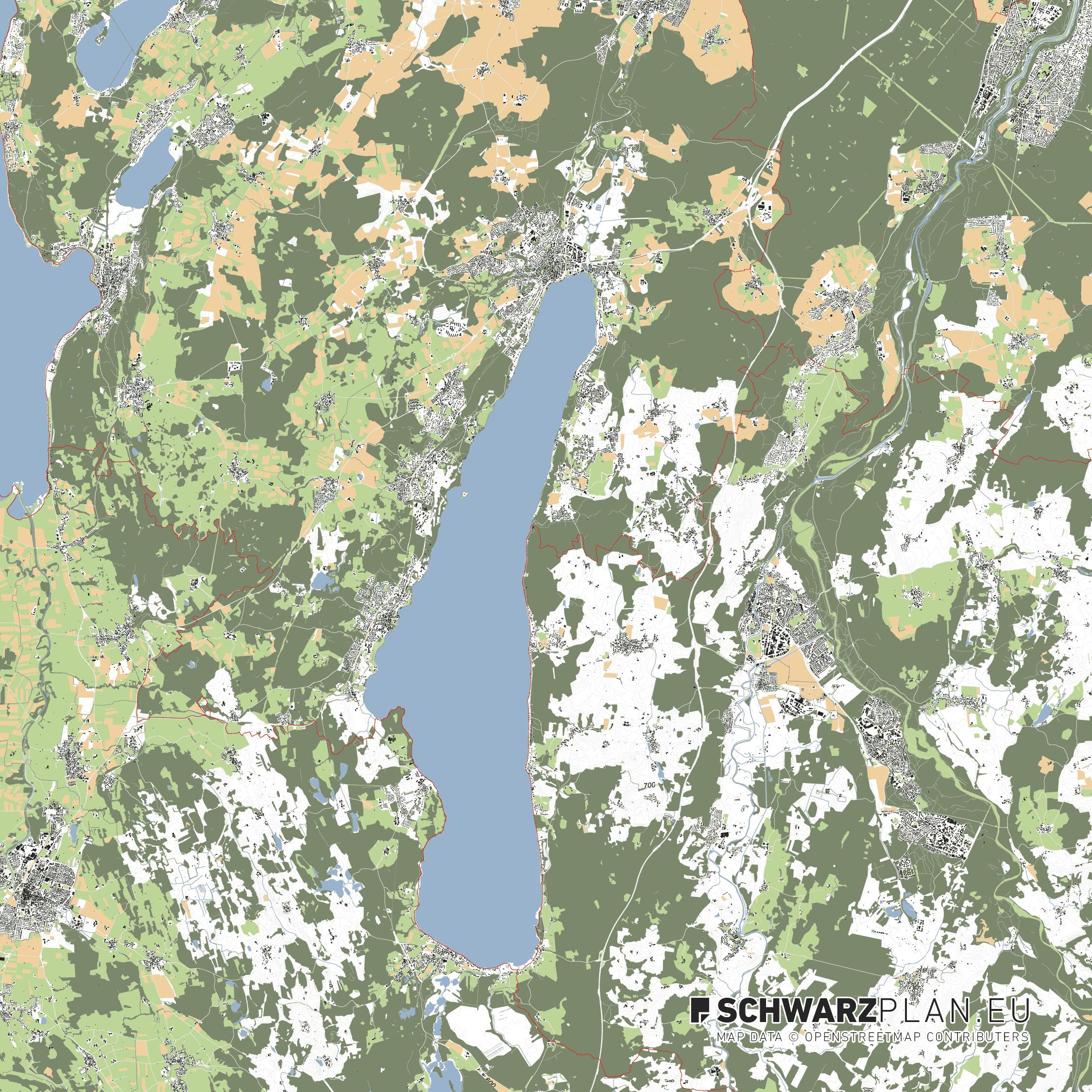 Lageplan von Starnberg