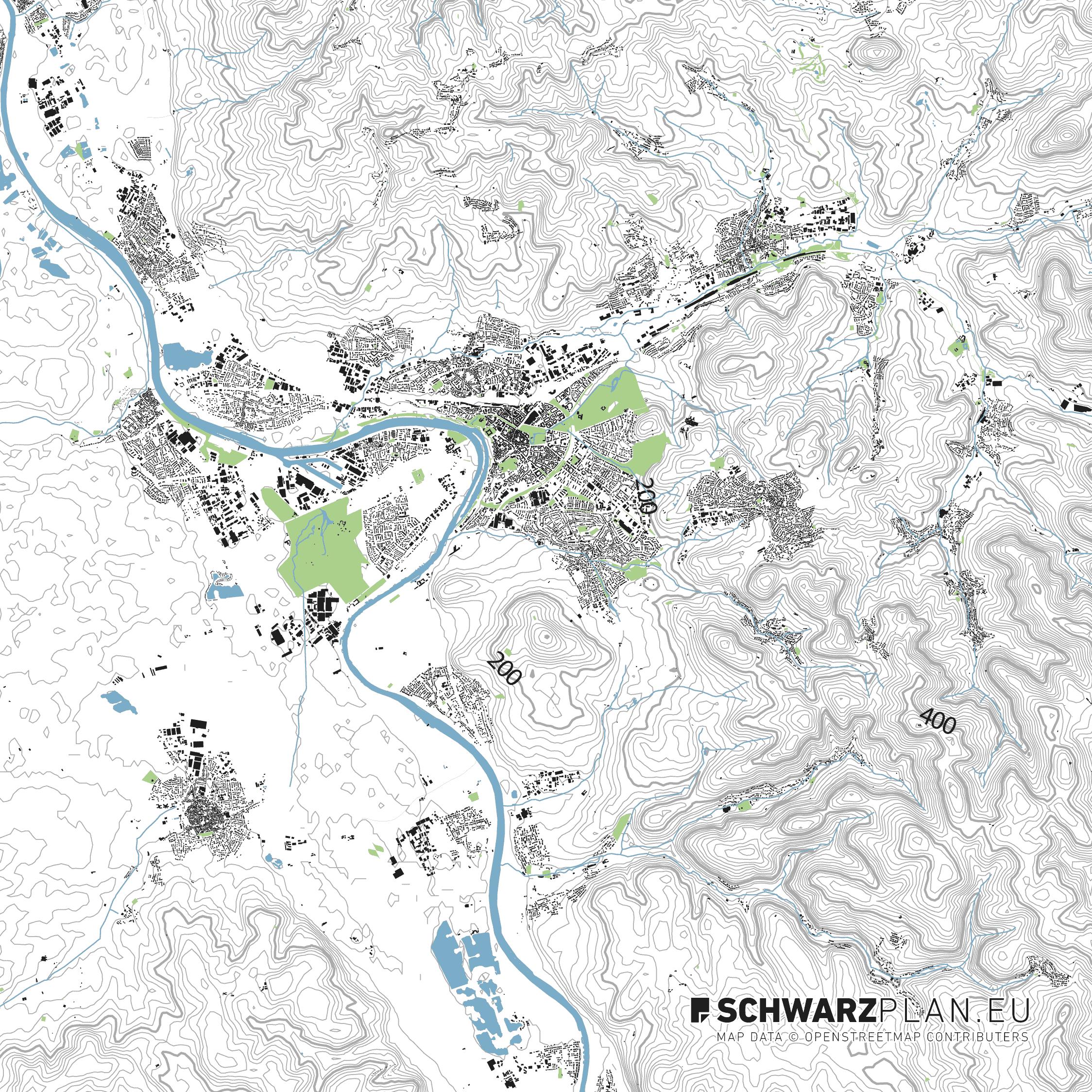 Lageplan von Aschaffenburg