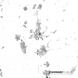 Schwarzplan von Bensheim