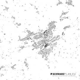 Schwarzplan von Landshut