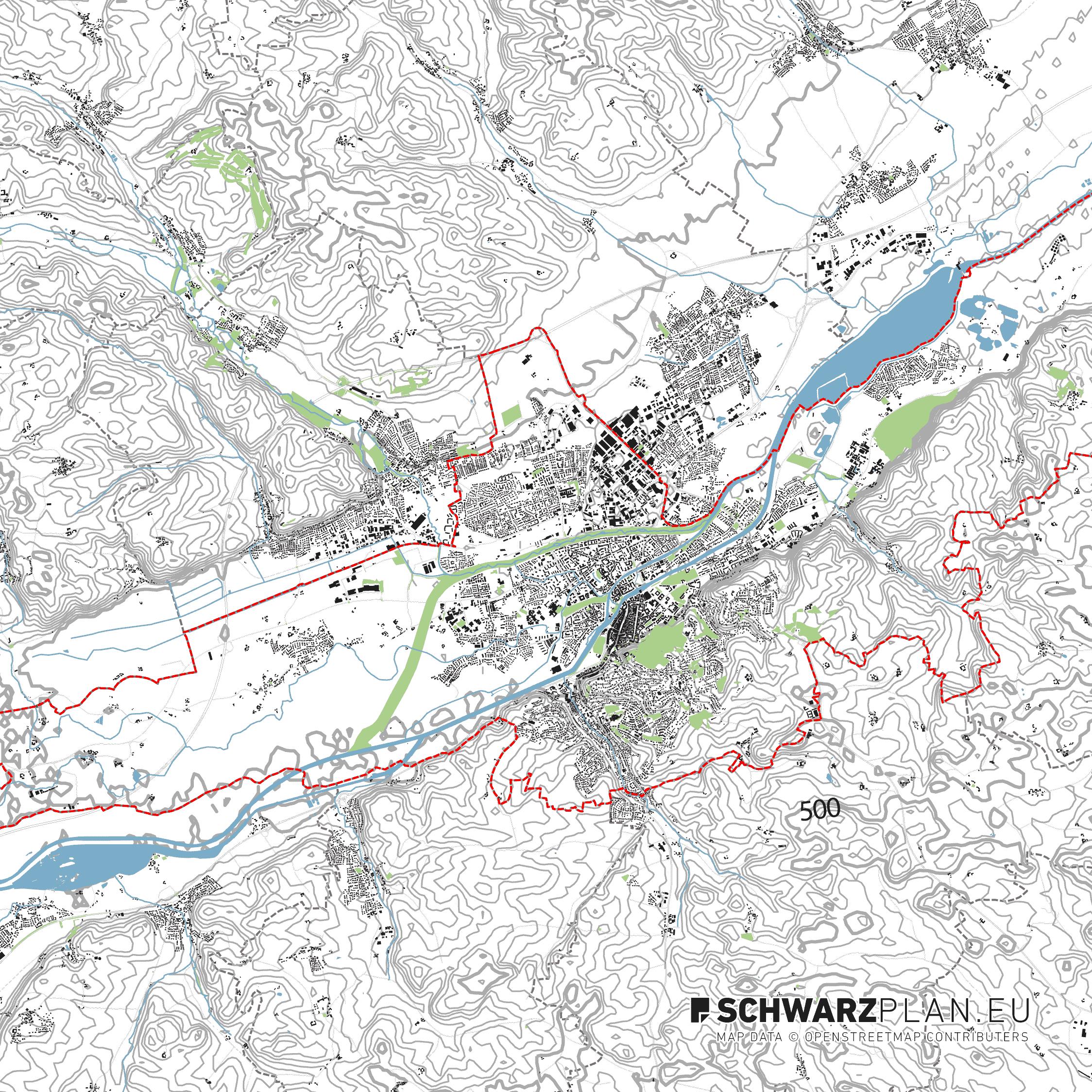 Lageplan von Landshut