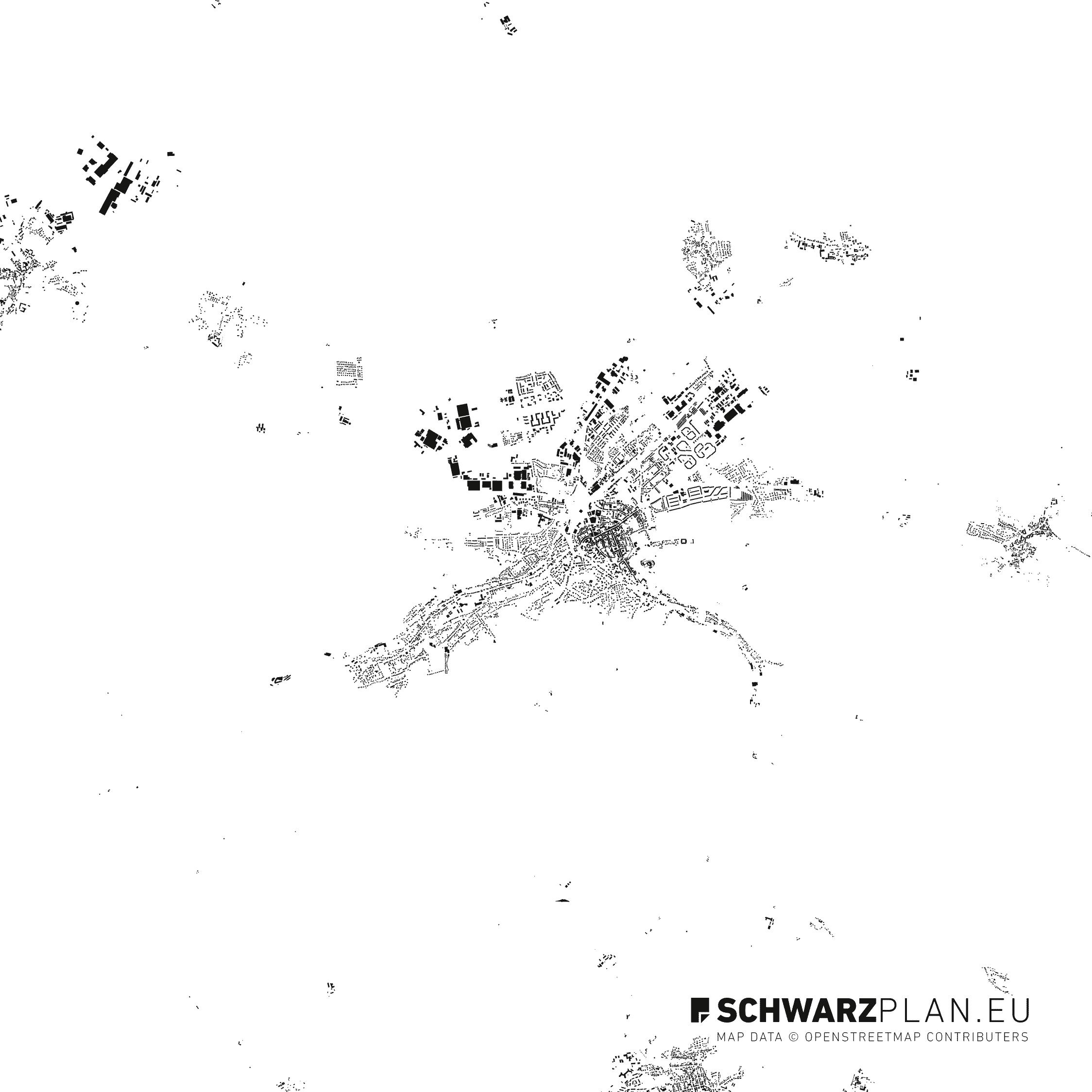 Schwarzplan von Wernigerode