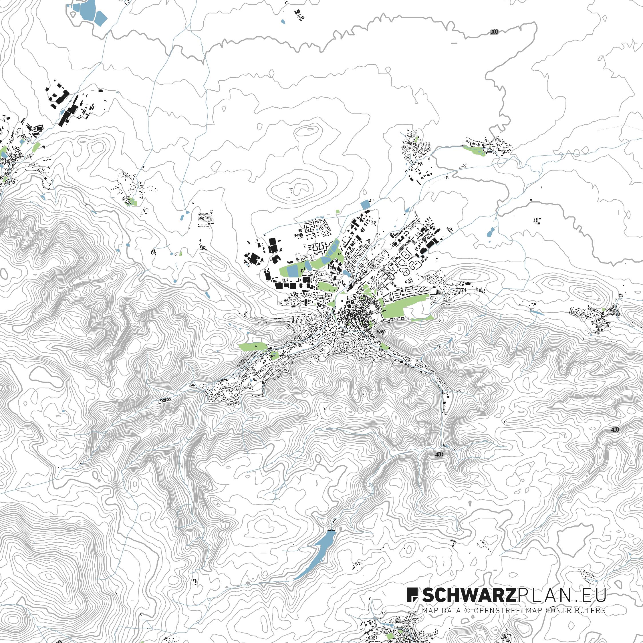Lageplan von Wernigerode