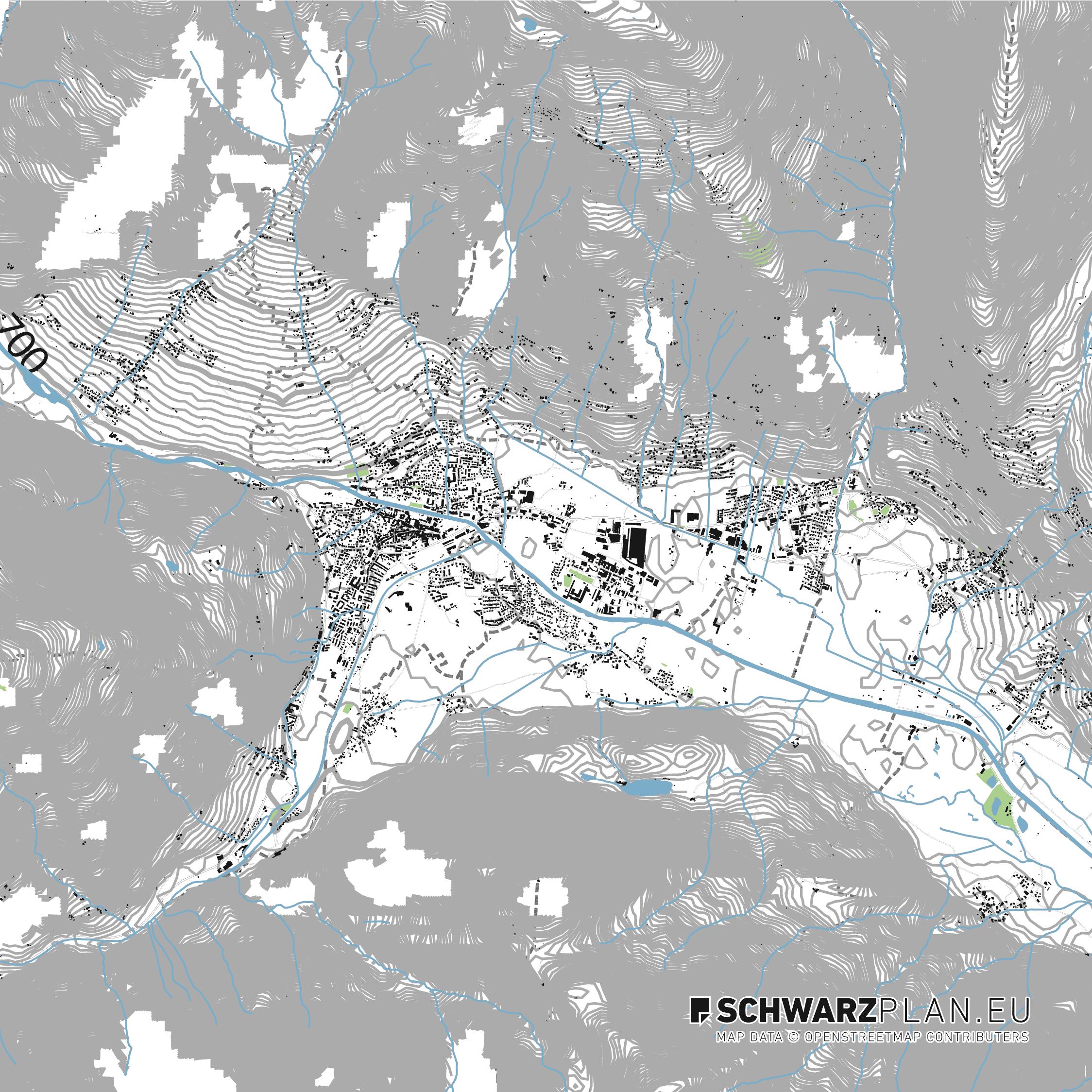 Lageplan von Lienz, Österreich
