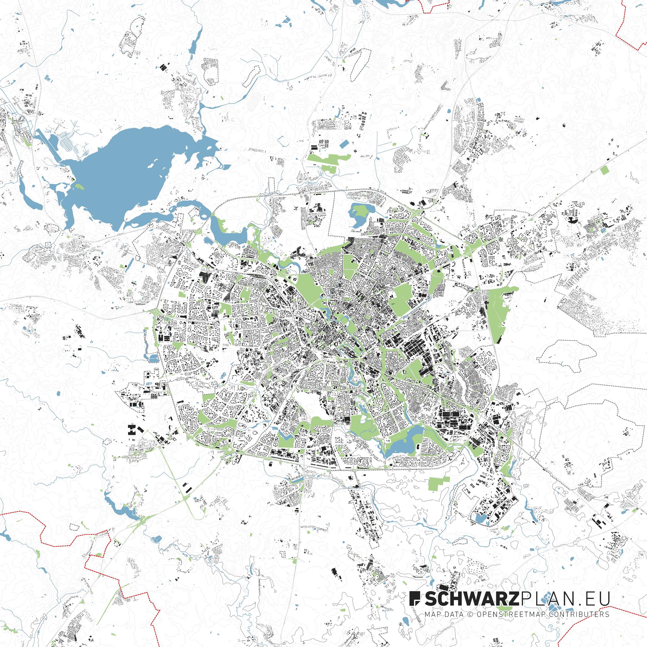 Lageplan von Minsk