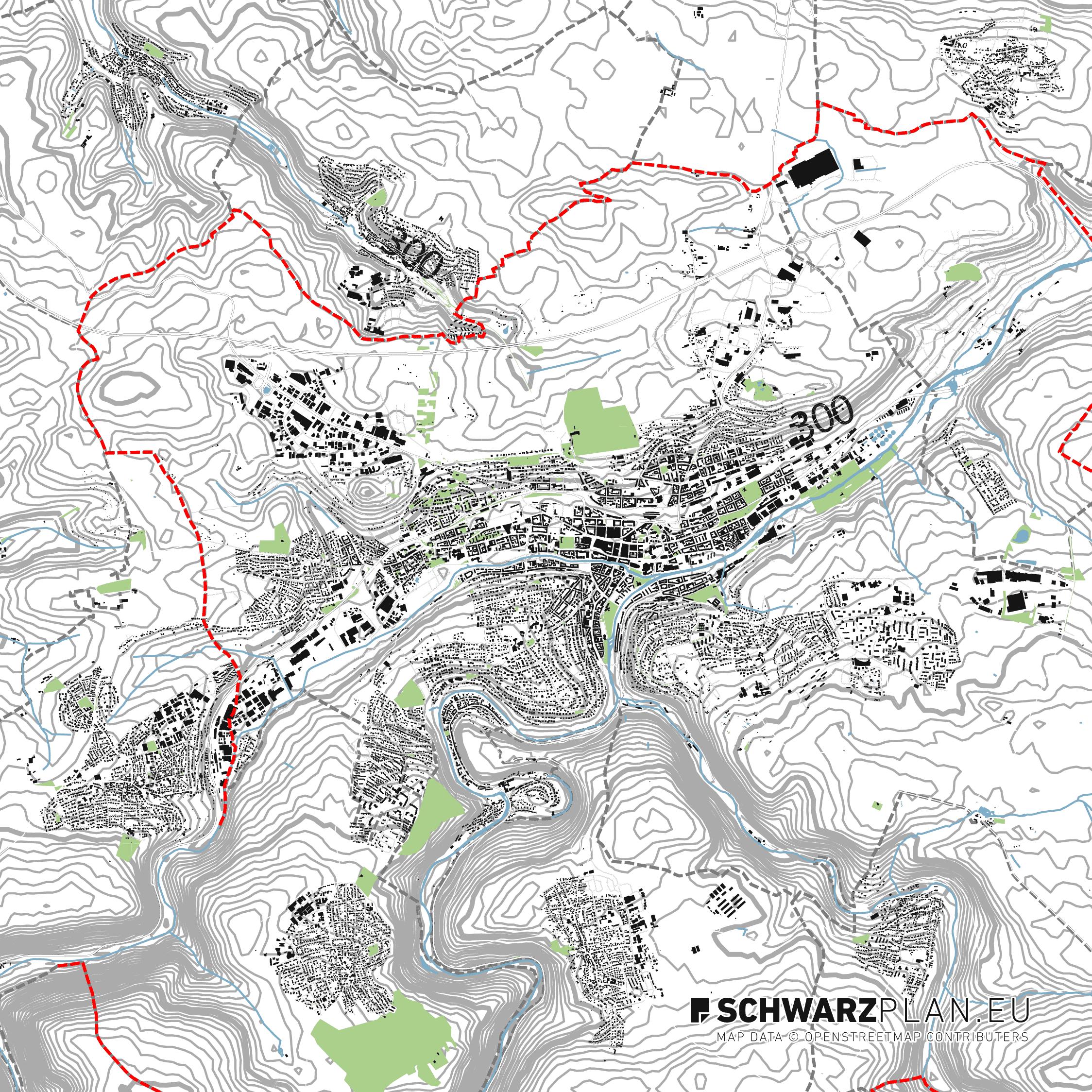 Lageplan von Pforzheim, Singen, Remchingen