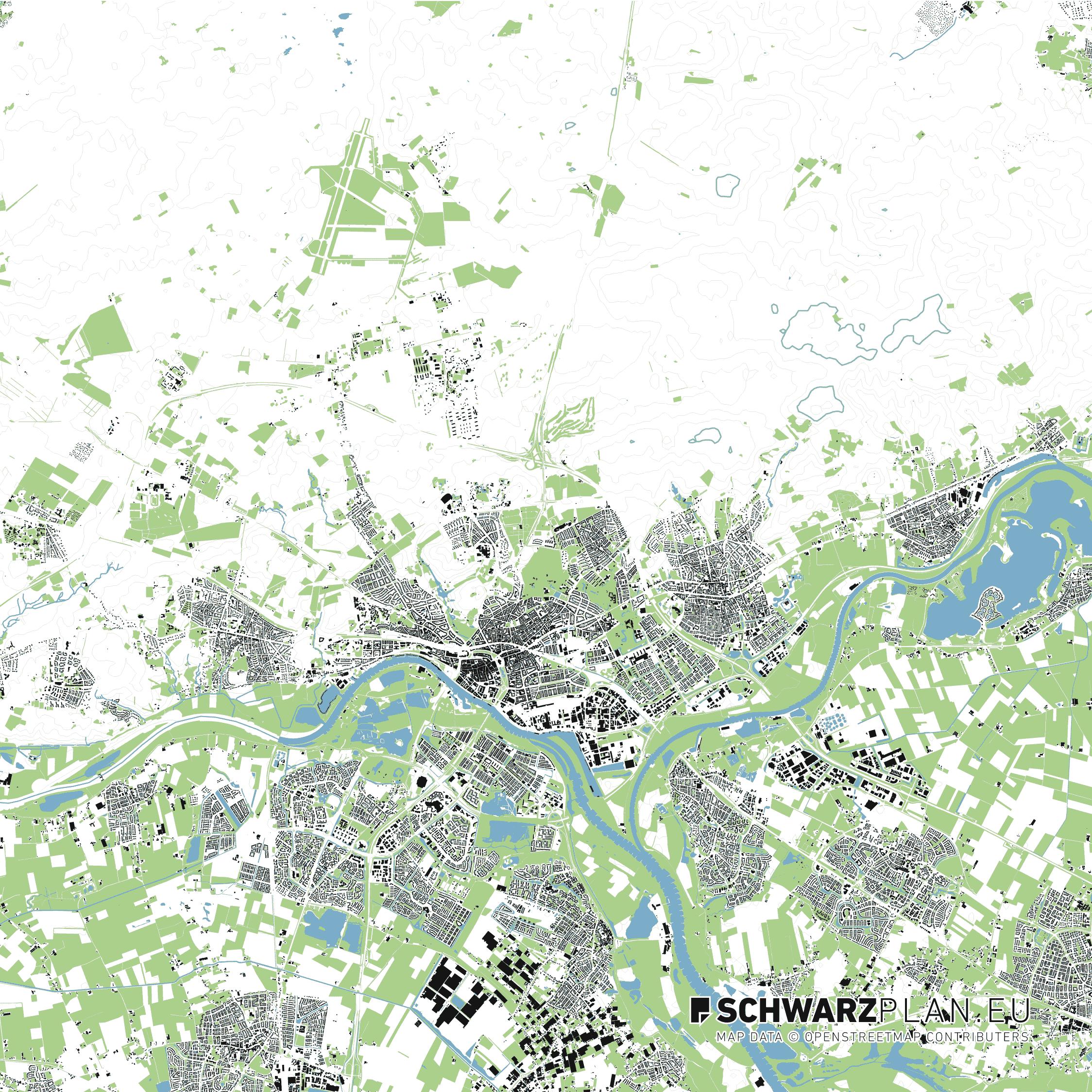 Lageplan von Arnhem