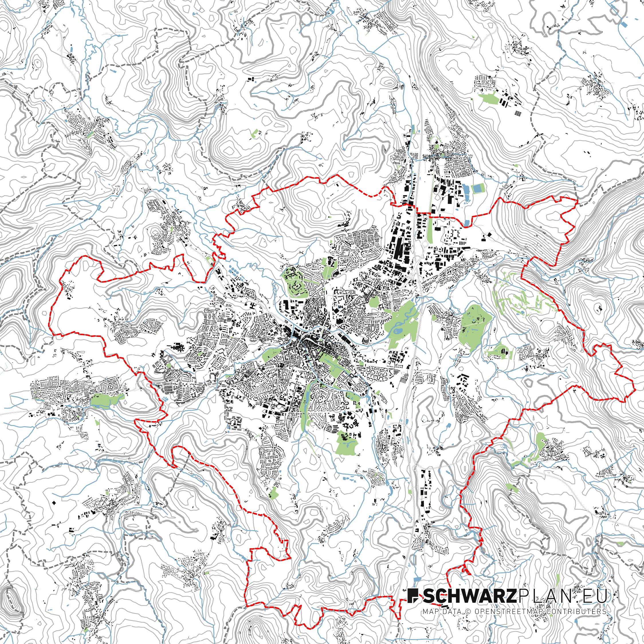 Lageplan von Bayreuth