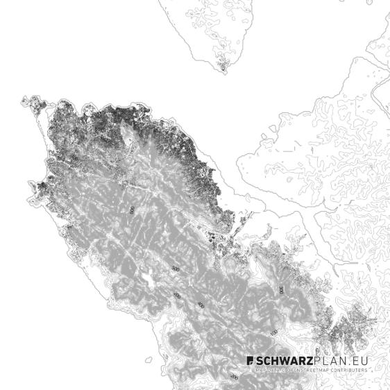 Schwarzplan von Freetown