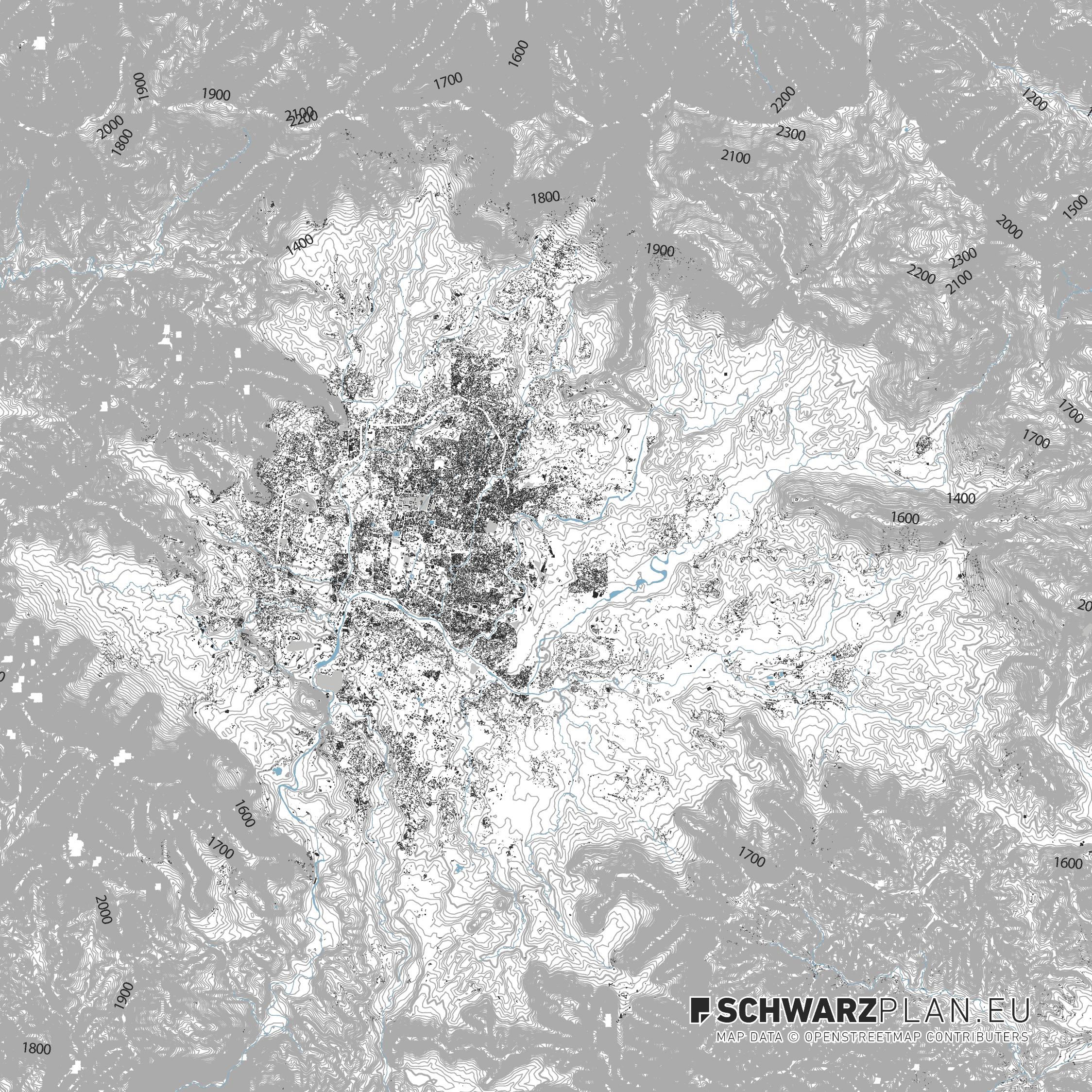 Lageplan von Kathmandu