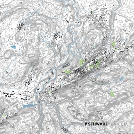 Lageplan von St Gallen
