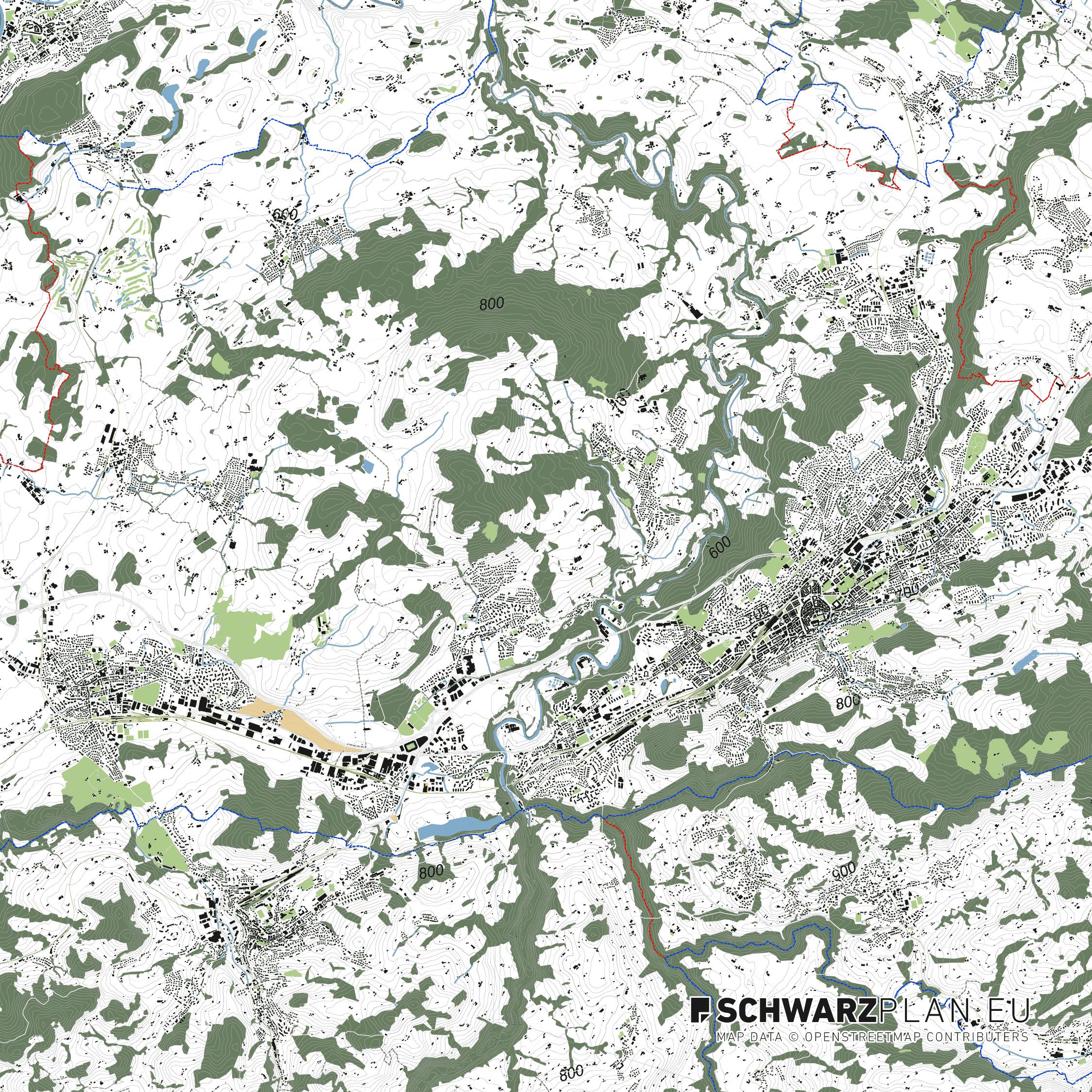 Lageplan von St. Gallen