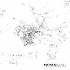 Schwarzplan von Villach