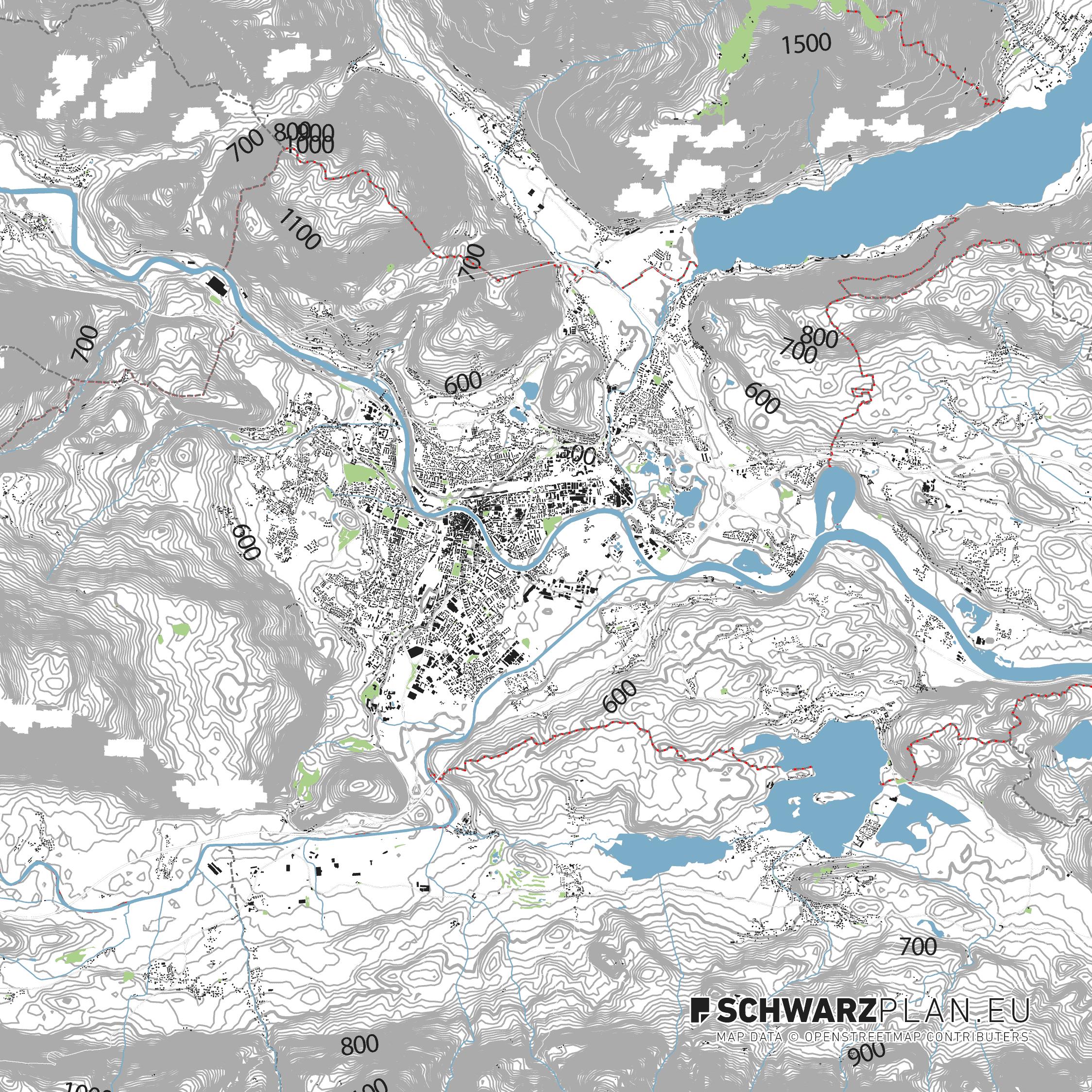 Lageplan von Villach
