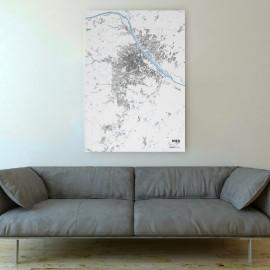 Schwarzplan von Wien auf Leinwand