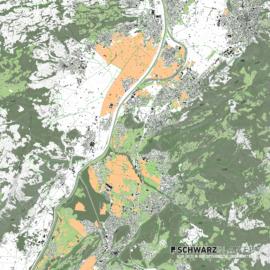 Lageplan von Götzis Feldkirch Dornbirn in Österreich