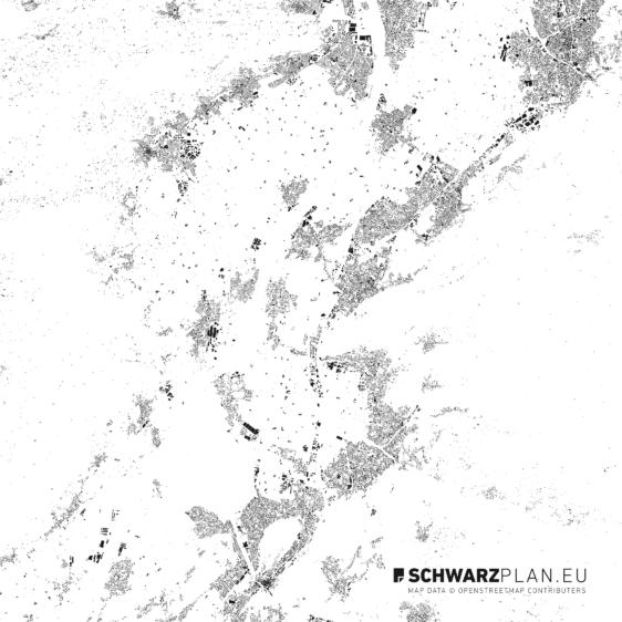 Schwarzplan von Götzis Feldkirch Dornbirn in Österreich