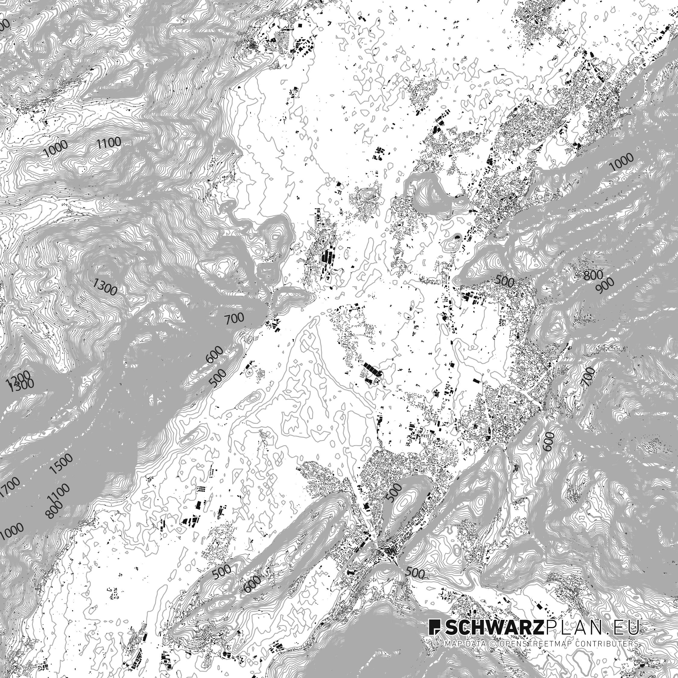 Schwarzplan von Goetzis Appenzell Feldkirch
