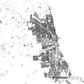 Chicago Schwarzplan zum Download als PDF