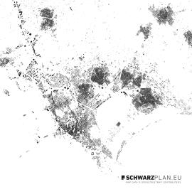 Schwarzplan von Cagliari