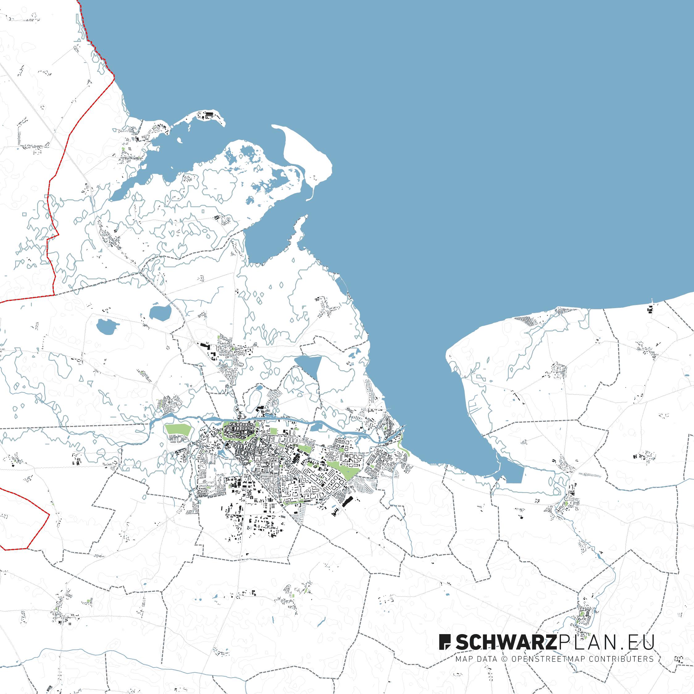 Lageplan von Greifswald