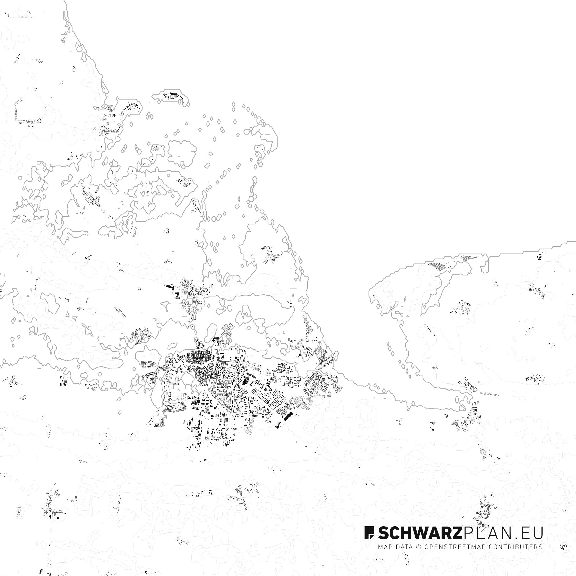 Schwarzplan von Greifswald