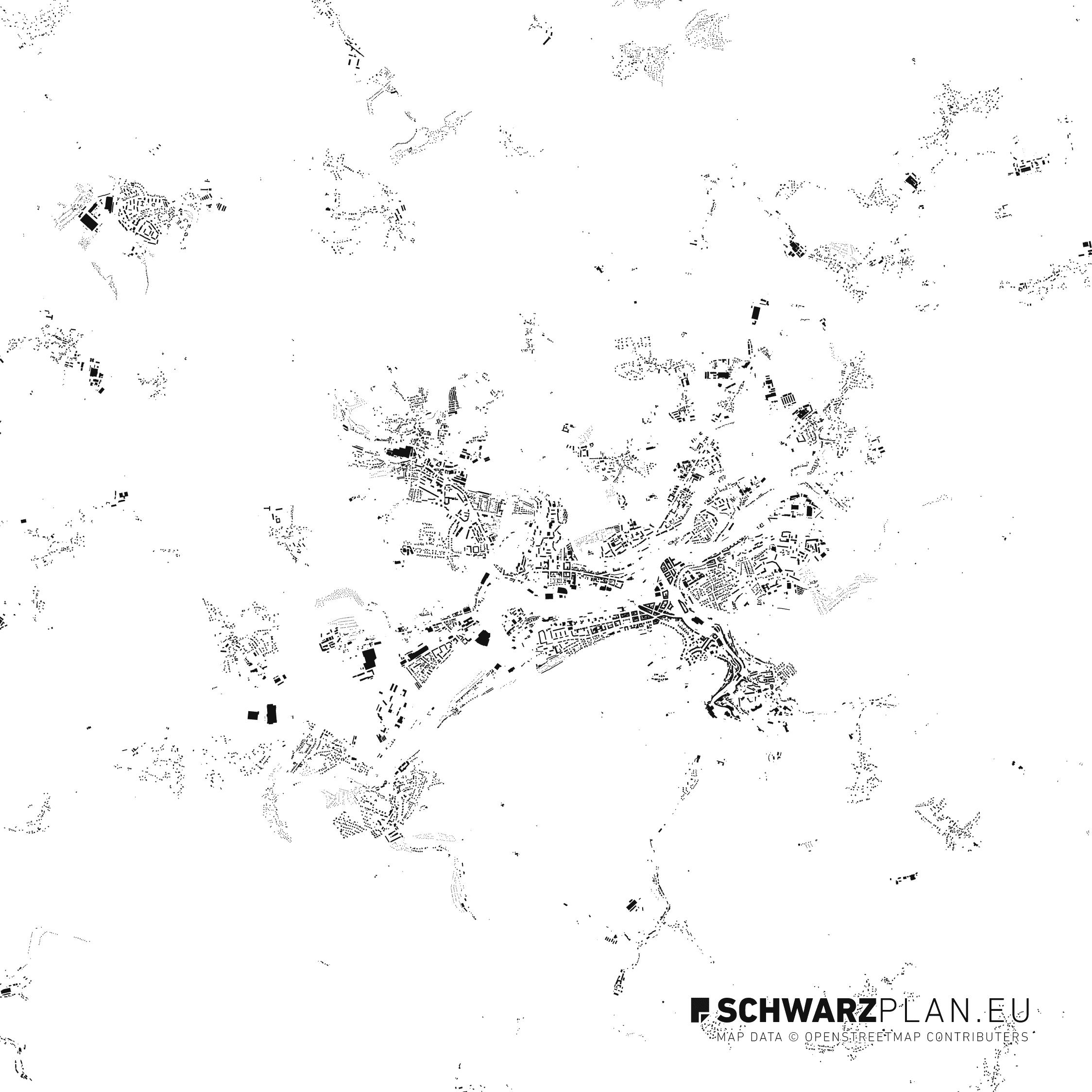 Figure Ground Plan of Karlovy Vary