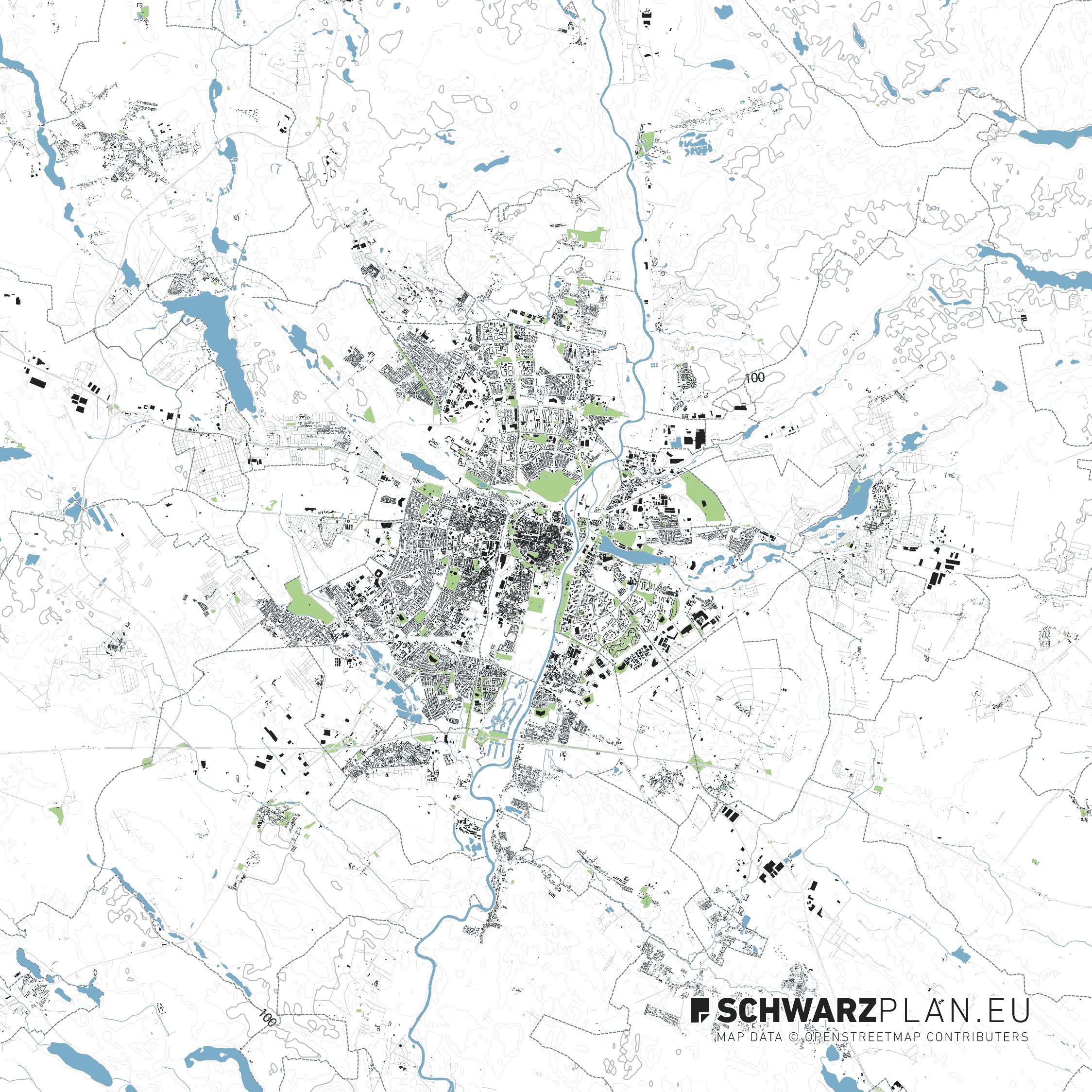 Site plan of Poznań