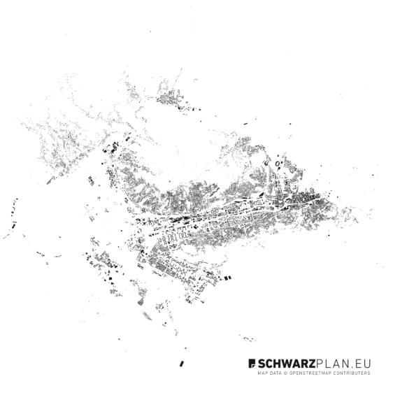 Schwarzplan von Sarajevo